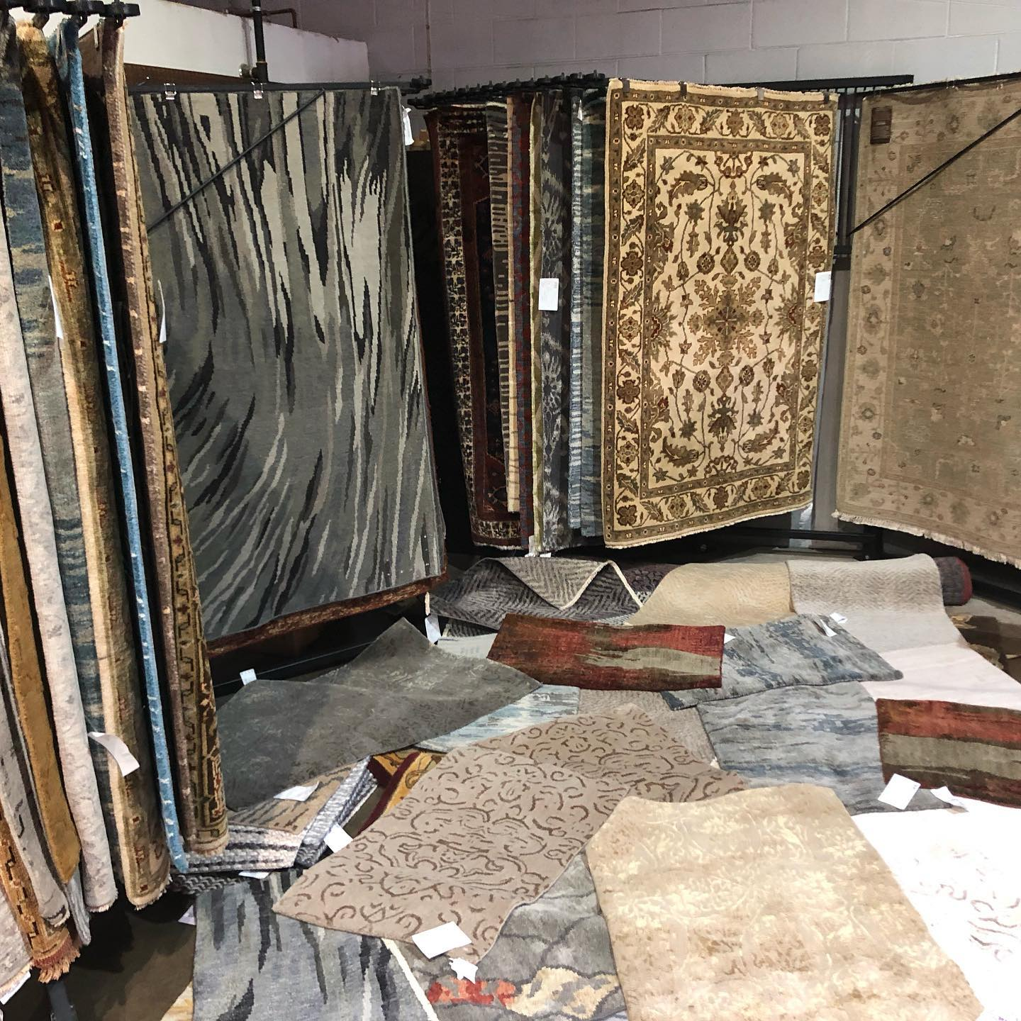 Rugs Drying At Heirloom Oriental Rugs